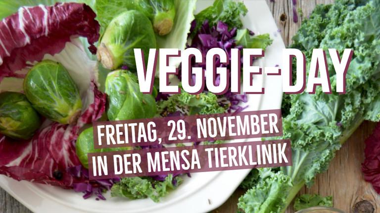 Gemüse und Salat mit Schriftzug Veggie-Day