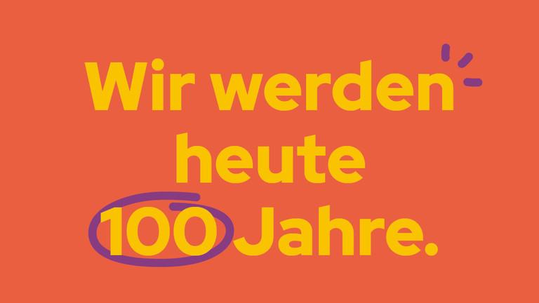 Grafik 100 Jahre Studentenwerk Leipzig