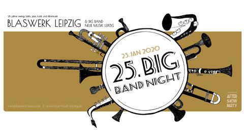 Veranstaltungs-Plakat Big Band Night des Blaswerk Leipzig