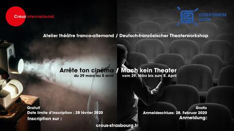 Deutsch französischer Theaterworkshop Crous Strasbourg