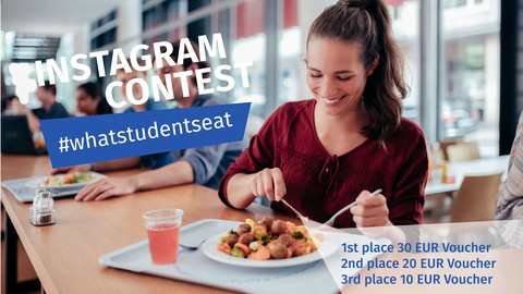 Contest Instagram: Student eats in the student restaurant Mensa am Park