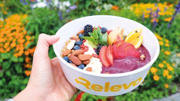 Smoothie Bowl in einer Mitnahme-Box von Relevo